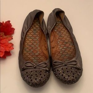 Sam Edelman Pewter and studs flats